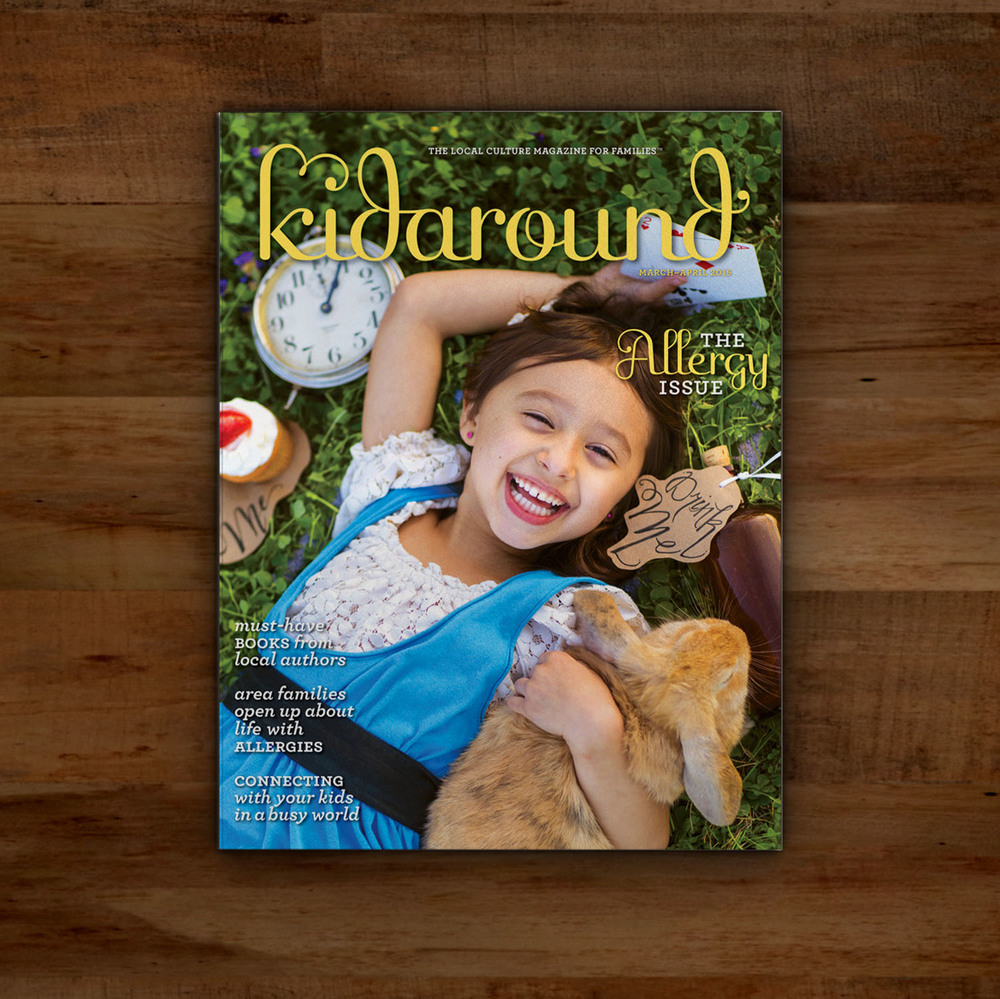 Editorial Design for Kidaround Magazine Allergy Cover