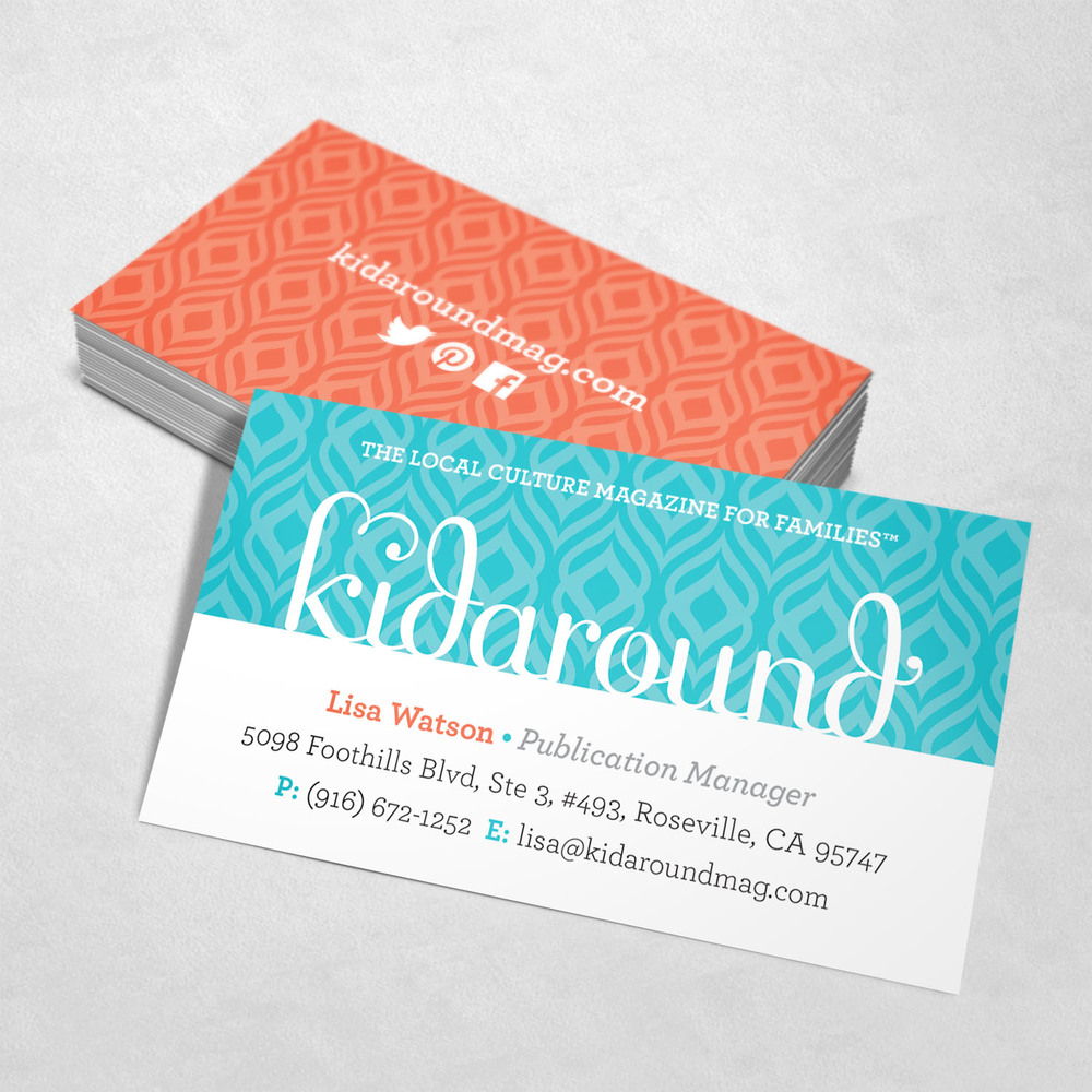 Kidaround Magazine Business Card Design