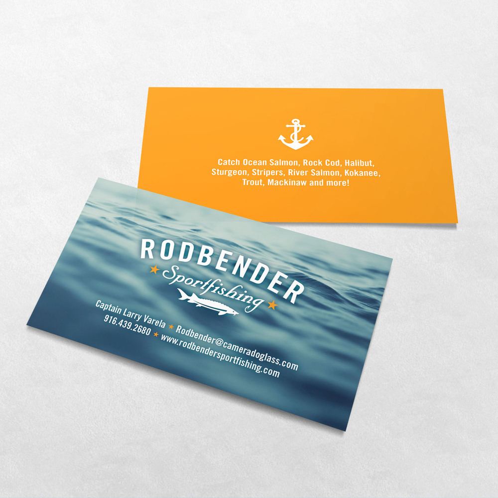 Rodbender Sportfishing Business Card Design