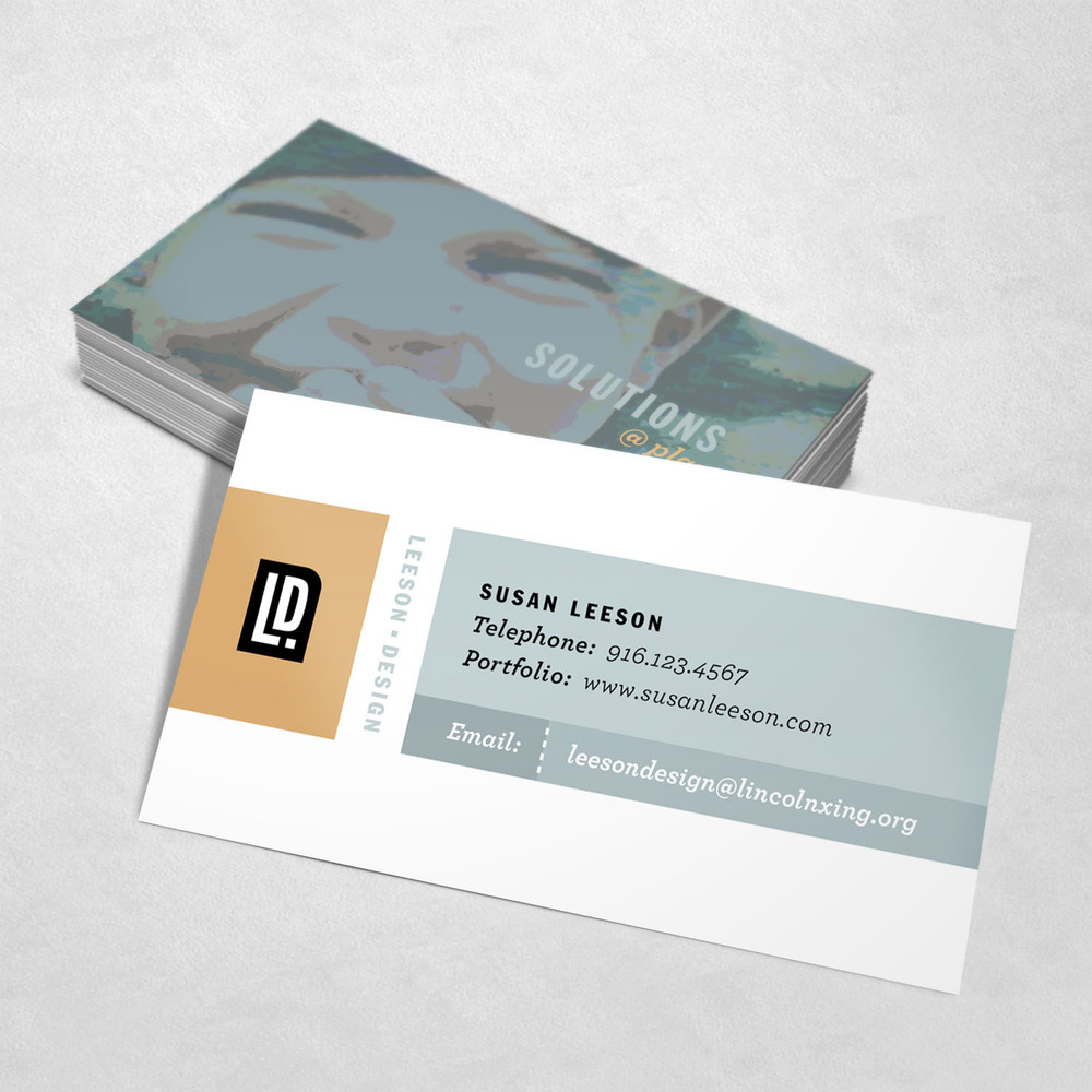 Susan Leeson Design Business Card Design