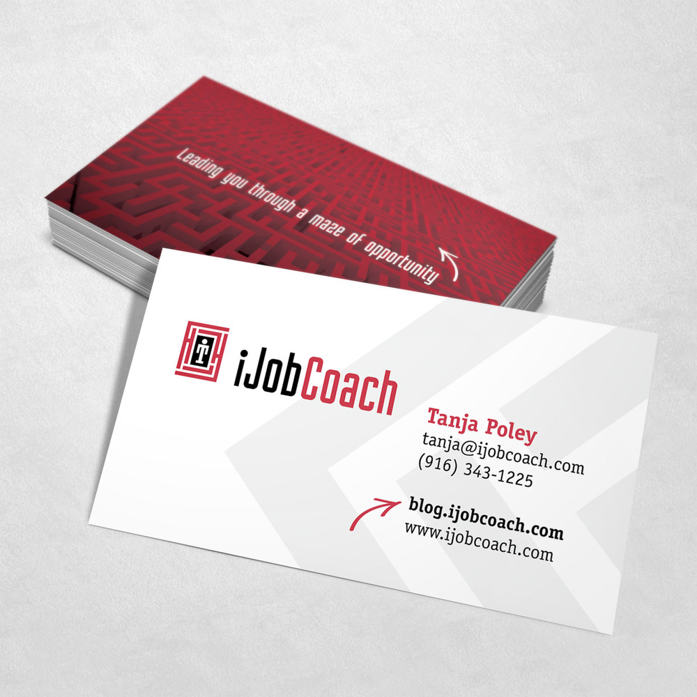 iJobCoach Business Card Design