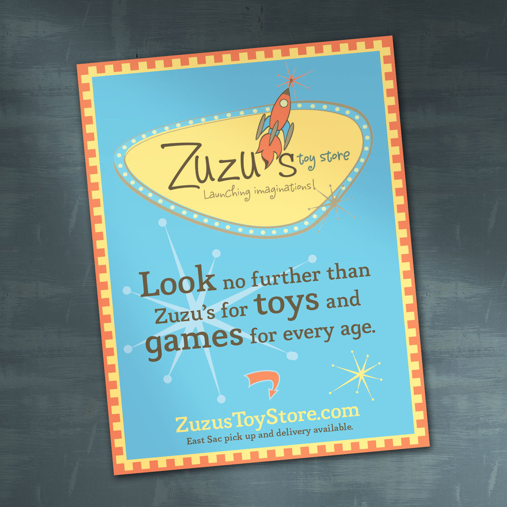 Zuzu's Toy Store Ad Design