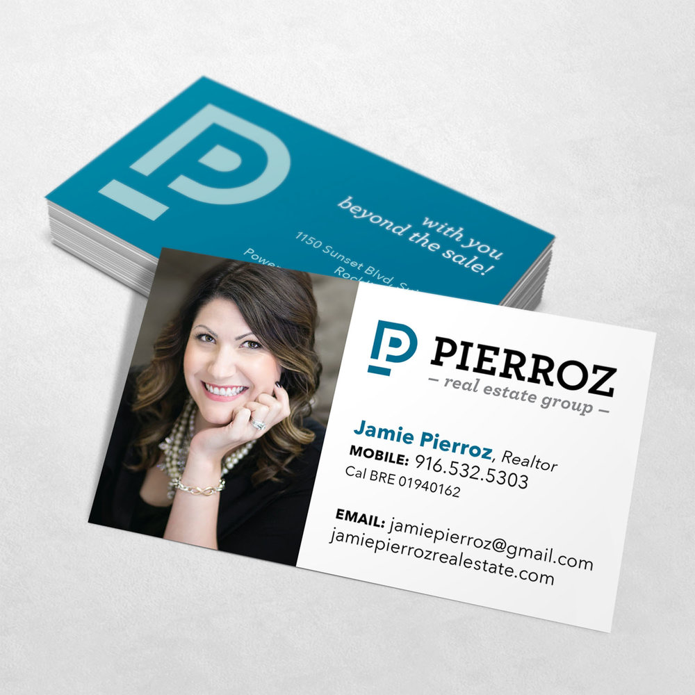 Pierroz Real Estate Group Business Card Design