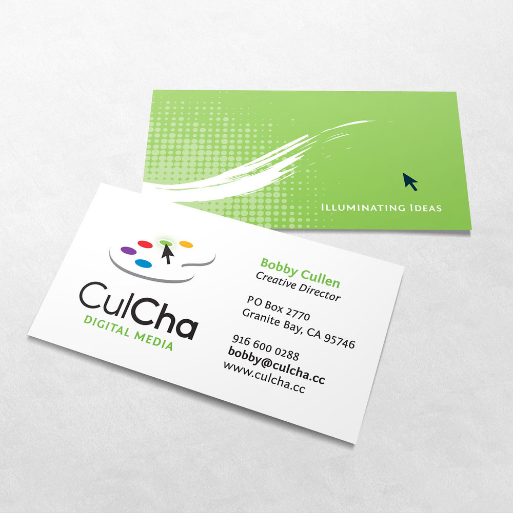 CulCha Digital Media Business Card Design