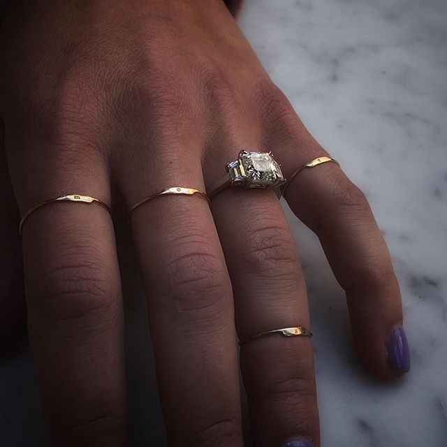 He asked, and I said yes! My husband-to-be designed this dream ring himself from start to finish. I'm floating on cloud 9 as the luckiest girl in the world 💕