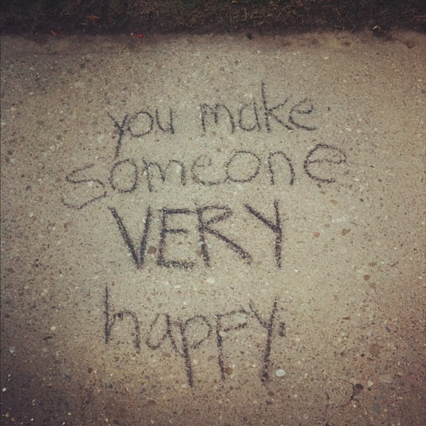 You make someone very #happy