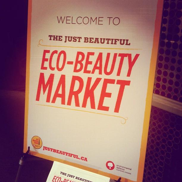 Yay! Im at the Eco-Beauty Market!