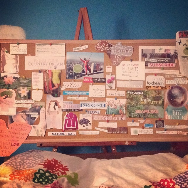 I'm really happy with my dream board for 2014 :)