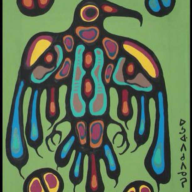Enjoying this piece created by Norval Morriseau