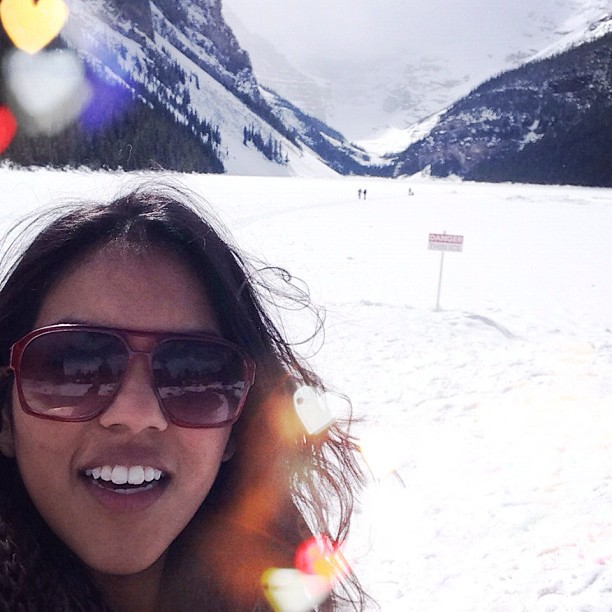 Lake Louise! (frozen, but still #epic!) such a wonder filled moment :)