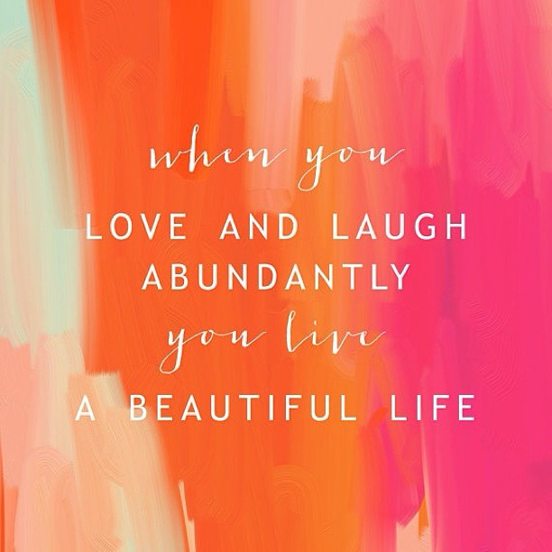 oohlaloft: Good Quote ❁ #quote #loveandlaughter #happyday #quoteoftheday #abundance #positivethinking