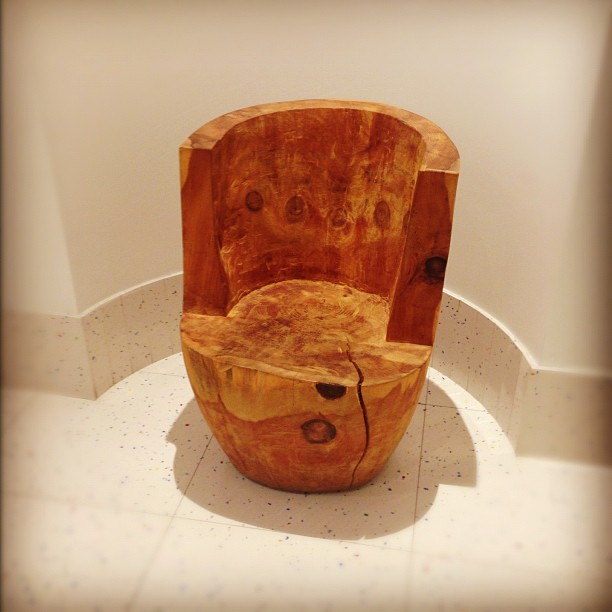 A very #wooden #throne
