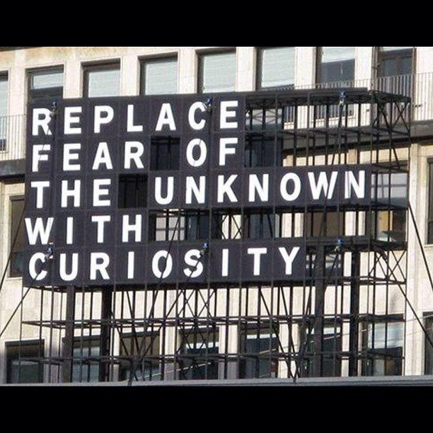 """Replace fear of the unknown with curiosity!"" #becurious #curiousgeorge #replacefear"