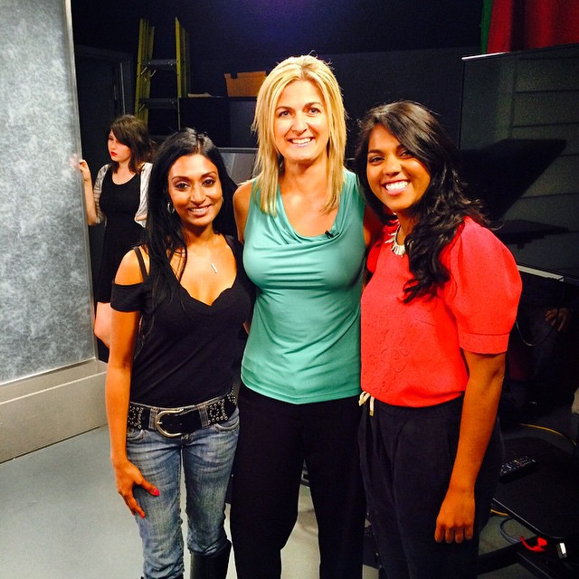 This shot was taken right after we filmed Health Matters Urban Minerals segment! A big thank you goes out to Dr. Lana Marconi and my beautiful model Tara Singh! Couldn't have been happier to work with you both!