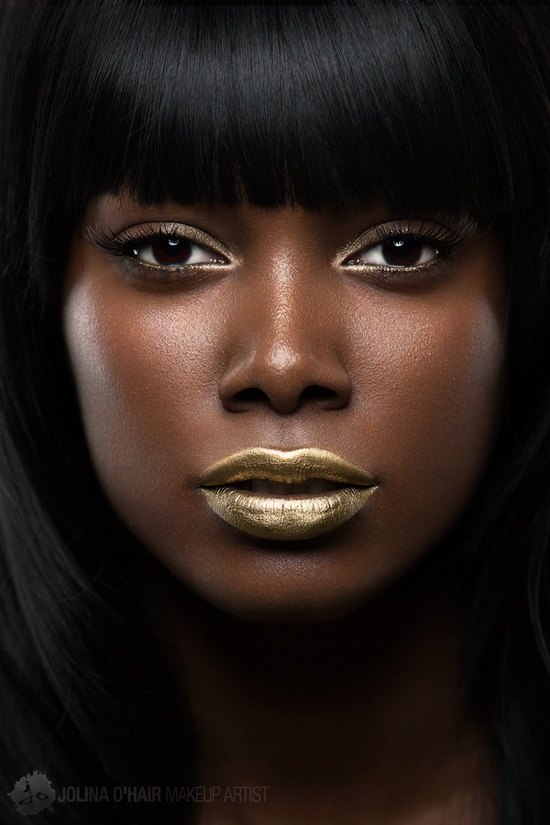 wocmakeup2: Siobhän by Geoffrey Jones that gold against her skin, #goldcrush I love contrast, and good lord ain't this beautiful