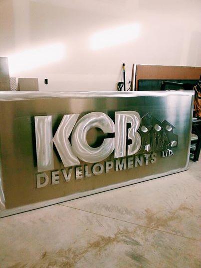 KCB Developments Sign