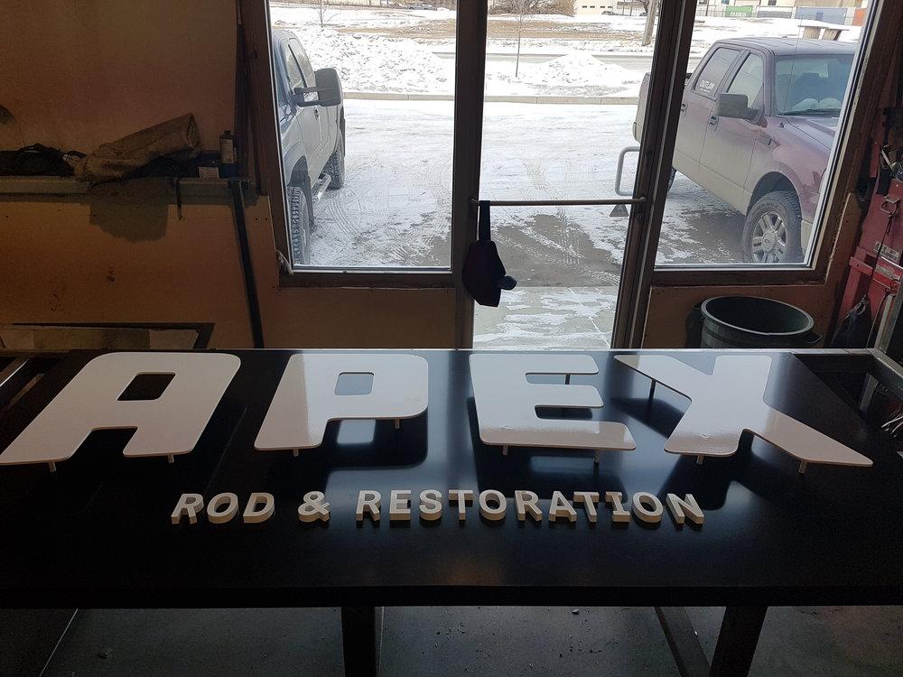 Apex Shop Sign