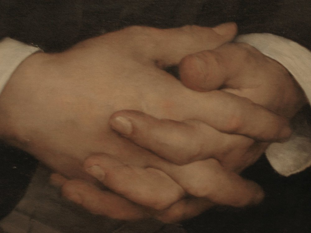 Hands from Bastien's portrait of Hayem.