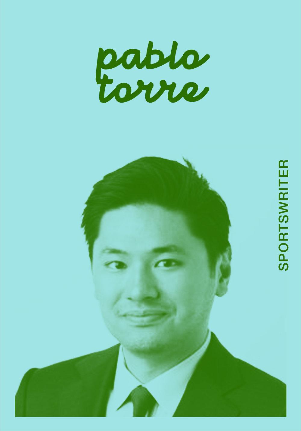 PABLO TORRE   @PABLOTORRE   IG: PSTORRE