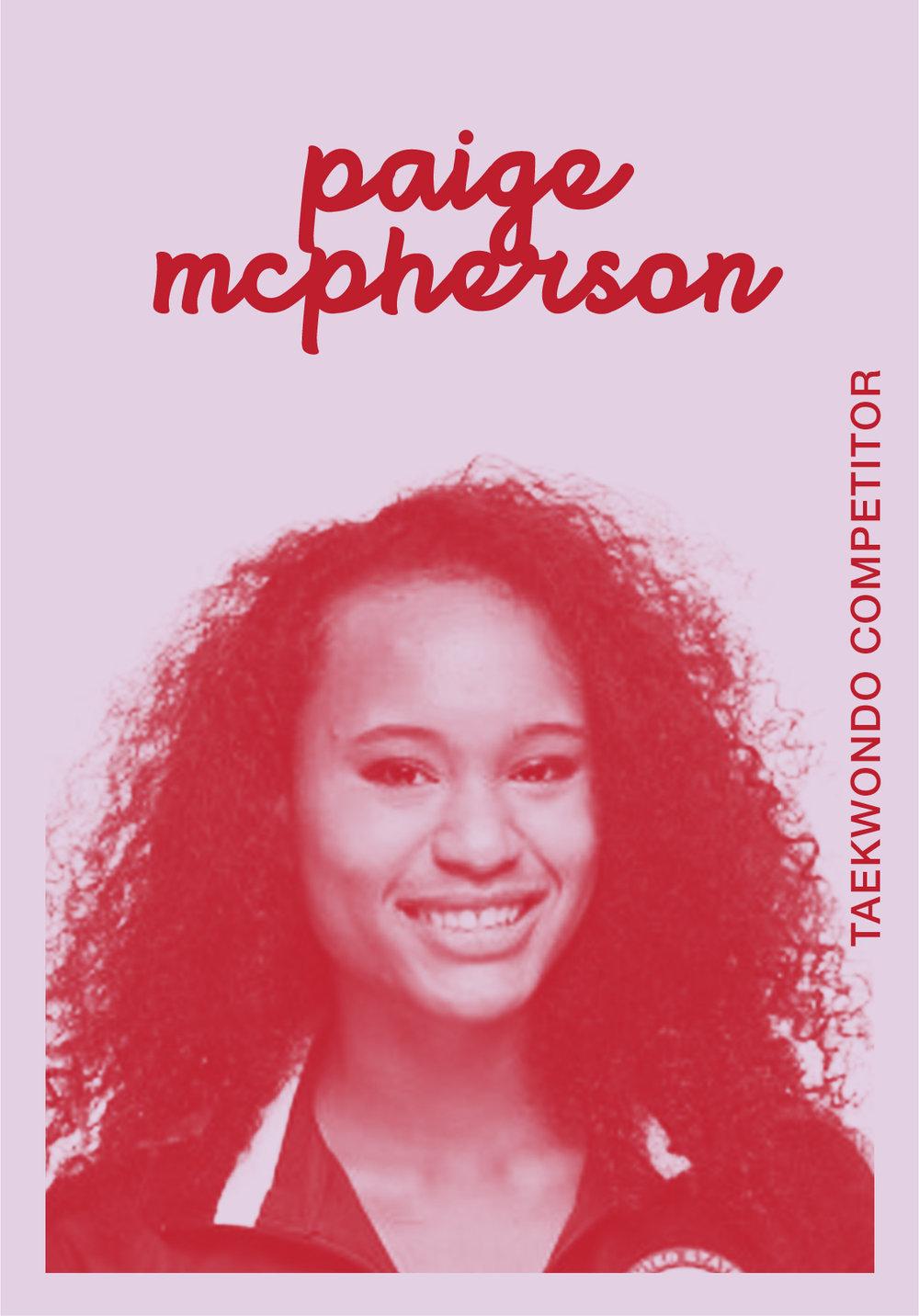 PAIGE MCPHERSON   @MCFIERCE2012   IG: AKA_MCFIRECE