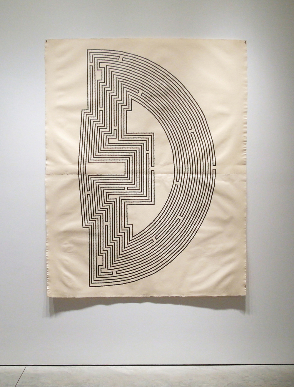 Waxing Crescent , 2011  Graphite on handmade paper  78 x 60 inches
