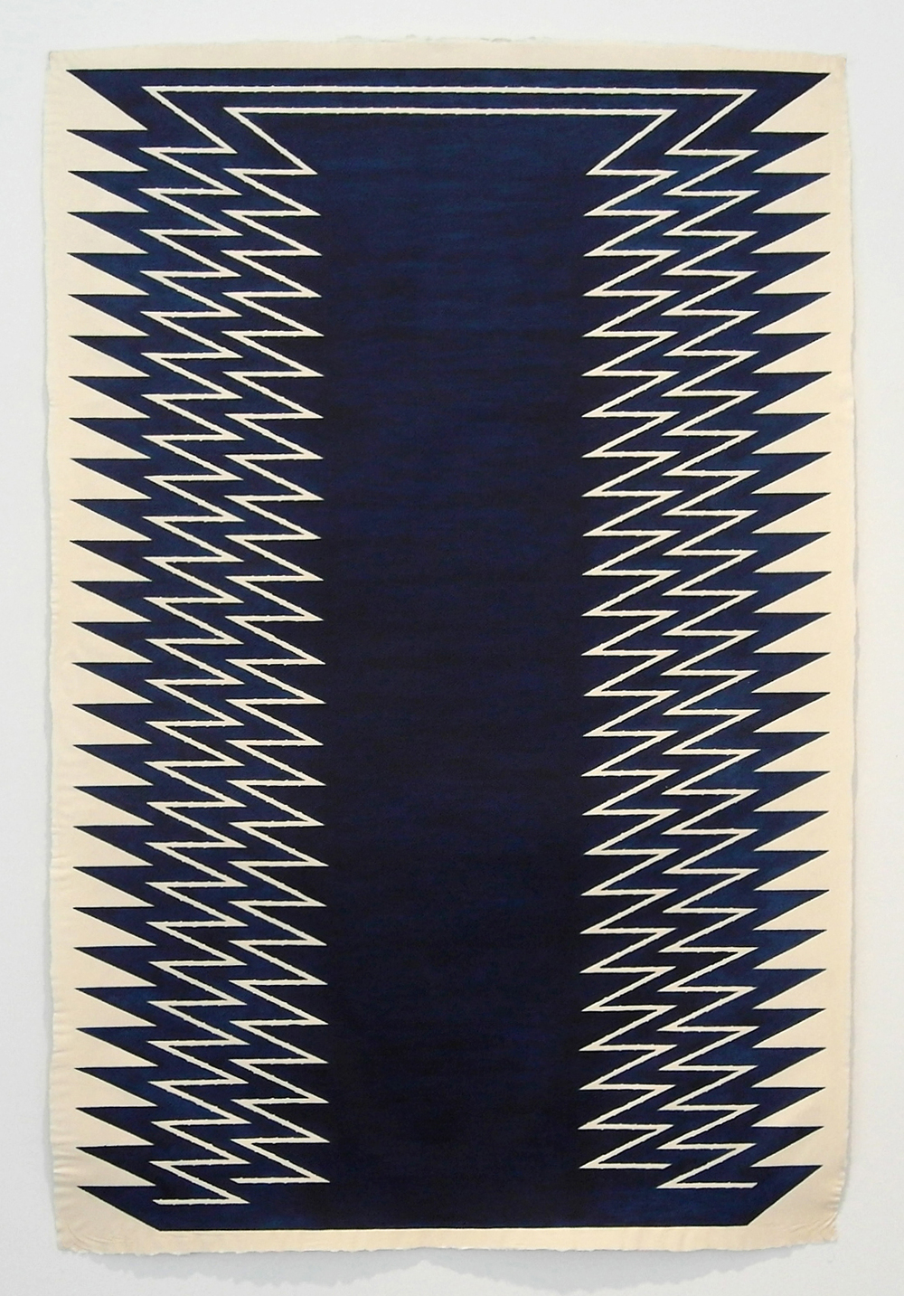 Awake, Sleeper , 2012  Leather dye on handmade paper  60 x 40 inches
