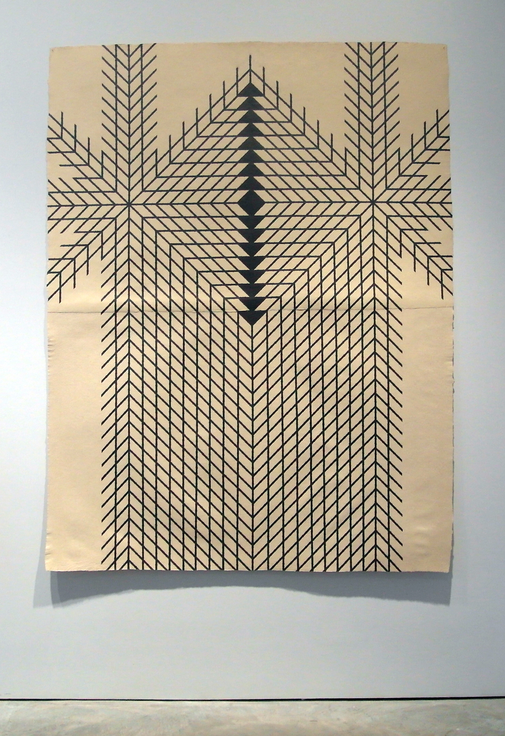 Tower , 2011  Graphite on handmade paper  78 x 60 inches