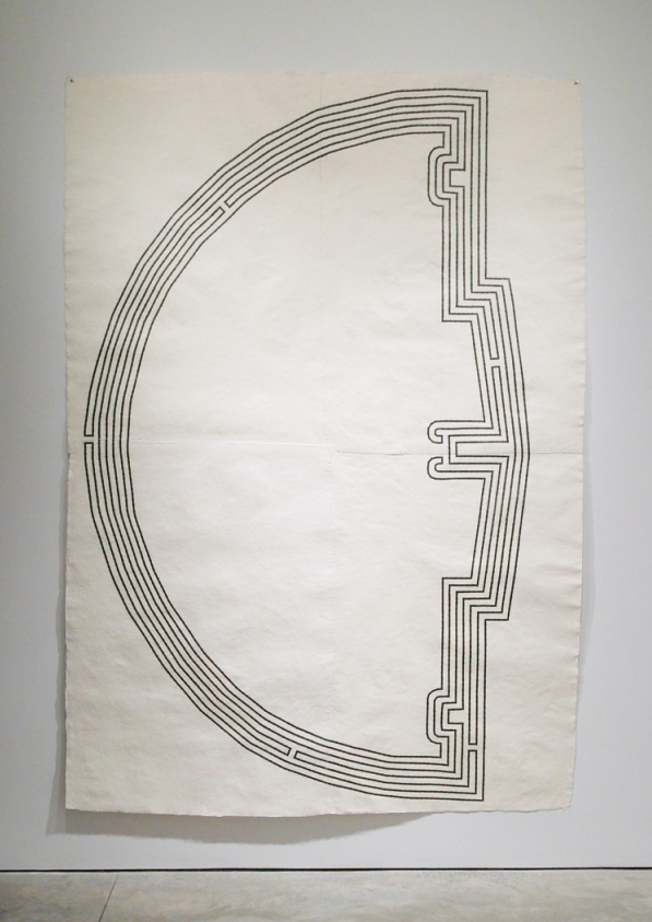 Waning Crescent , 2010  Graphite on handmade cotton rag paper  104 x 73 inches