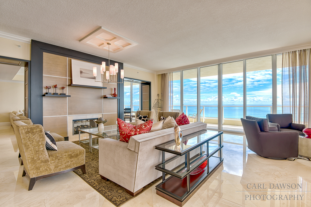 Living Room in Luxury Condo | Singer Island
