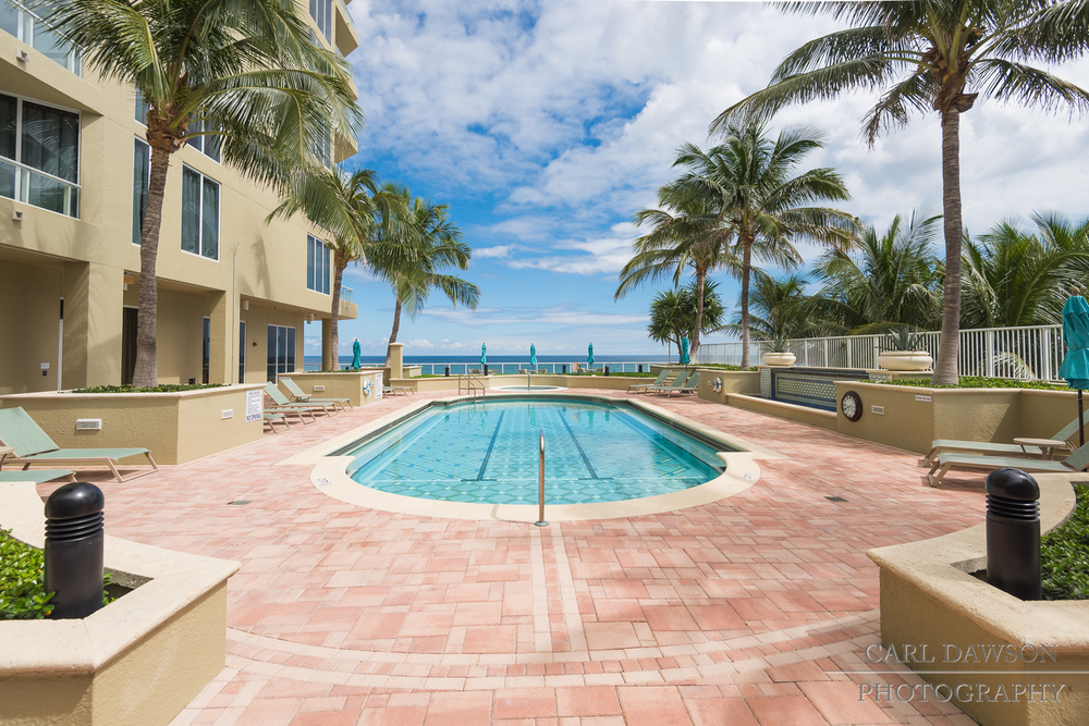 Real Estate Pool Shot and Ocean View | Singer Island