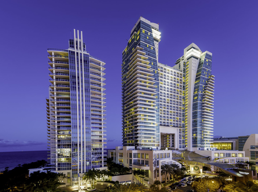 The Diplomat hotel where the Miami Dolphins 50th gala was held with Kovita Channe.