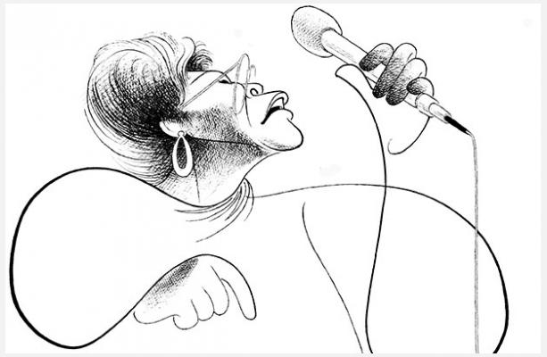 Ella Fitzgerald  as drawn by Al Hirschfeld