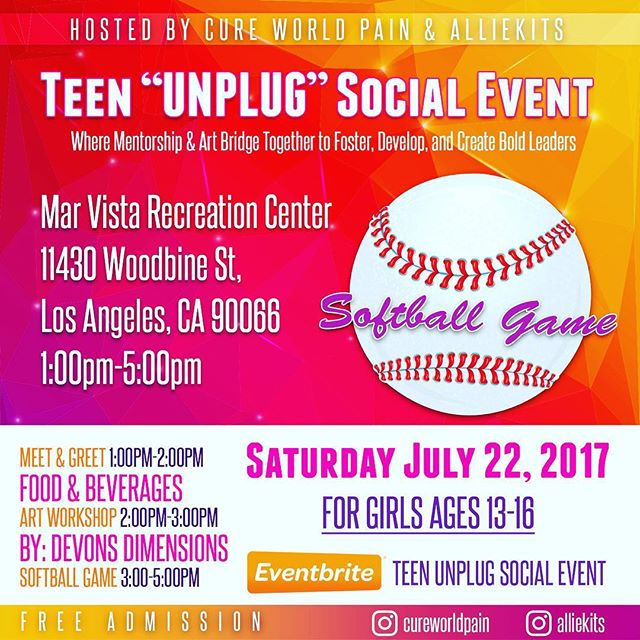 """Register your teen girls for this free """"UNPLUG"""" social event. Eventbrite """"Teen Unplug Social Event""""  This event aims to support parents by offering a platform for which their teen(s) can unplug, if only for a short period of time as well as encourage teen(s) to form relationships outside of social media, encourage confidence through activities that foster personal & team building skills, and to use these skills in developing a streamline toward their personal gifts that inspire and empower bold leaders."""
