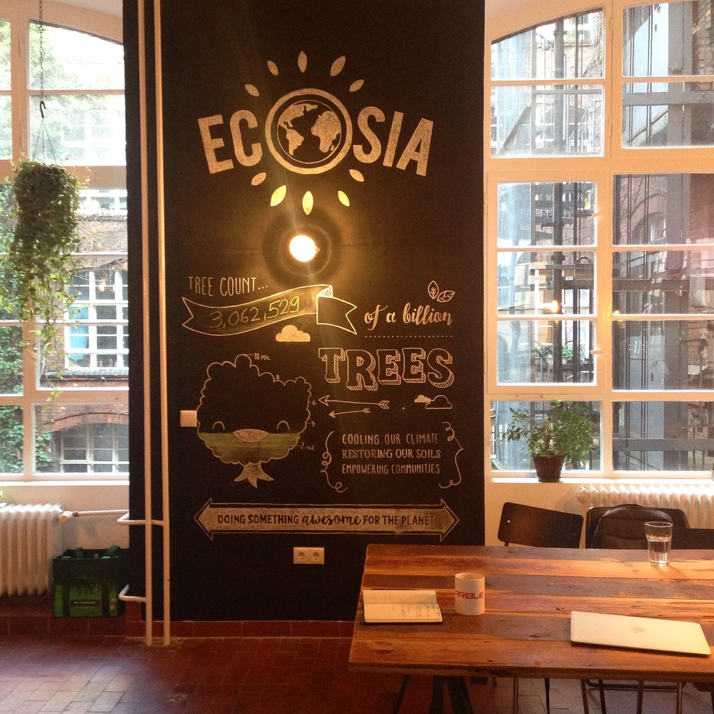Snapshot in Ecosia headquarters in Berlin. #HEROInterviews episode coming next week to The Hashtag HERO TV!