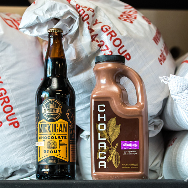 DENVER'S COPPER KETTLE BREWING USES CHOLACA IN ITS MEXICAN CHOCOLATE STOUT. (CREDIT: CHOLACA)