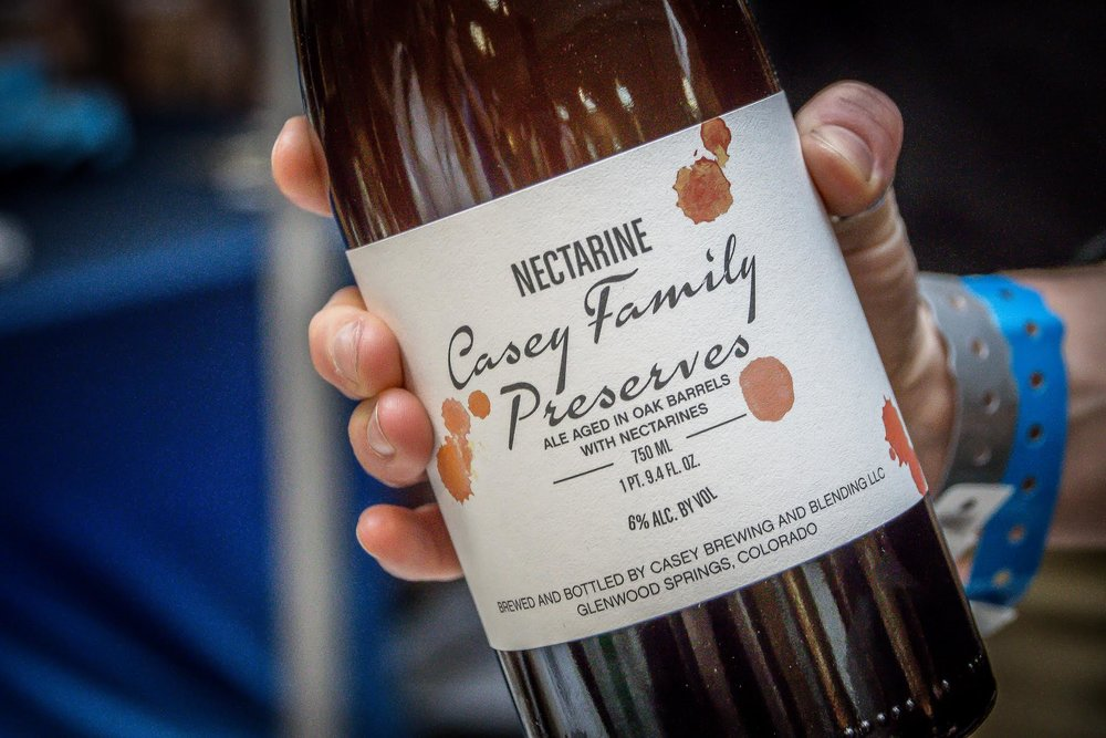 Casey Brewing & Blending's dry-hopped nectarine farmhouse ale was a standout at this year's Big Beers festival. —Photo by Tyra Sutak