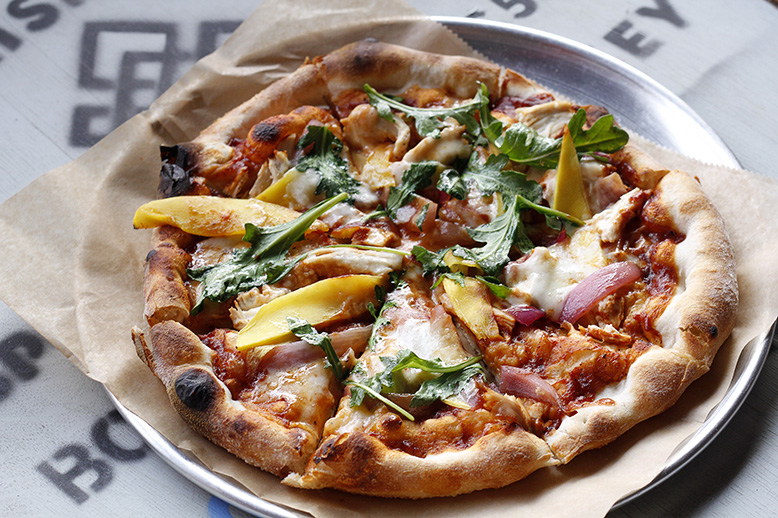 Black Shirt Brewing Company's pizza crust is made with the brewery's spent grain. Photo courtesy of Black Shirt Brewing Company