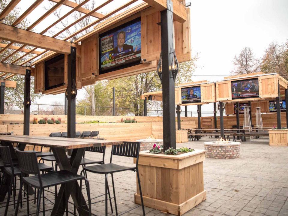 RiNo Beer Garden's massive patio. Photo by Tyra Sutak
