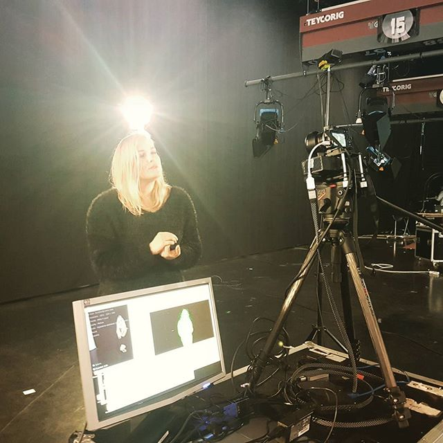 Filming some VR material last week at YLE ✨