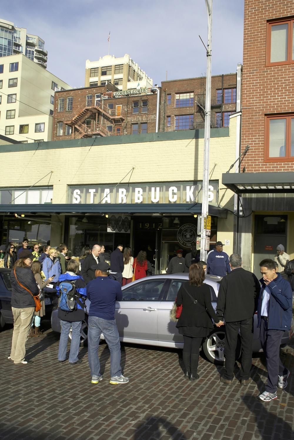 Den aller første Starbucks Café i Seattle