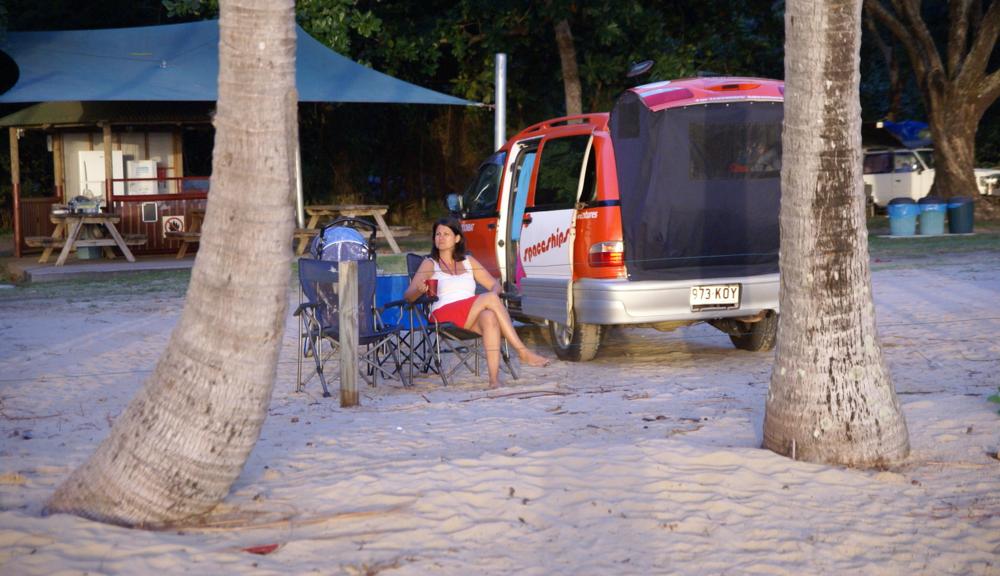 Vores udendørs stue ved Ellis Beach, Queensland, Australia