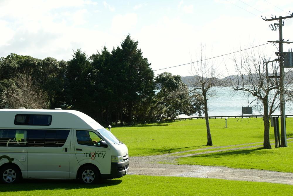En fin campingplads i det nordlige New Zealand