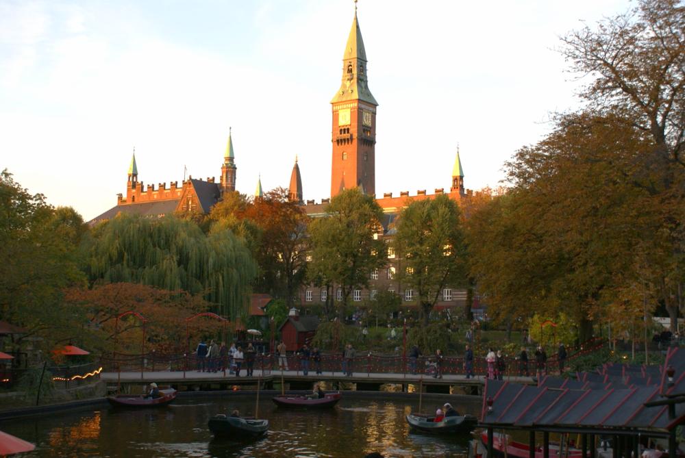 Copenhagen City Hall, seen from Tivoli