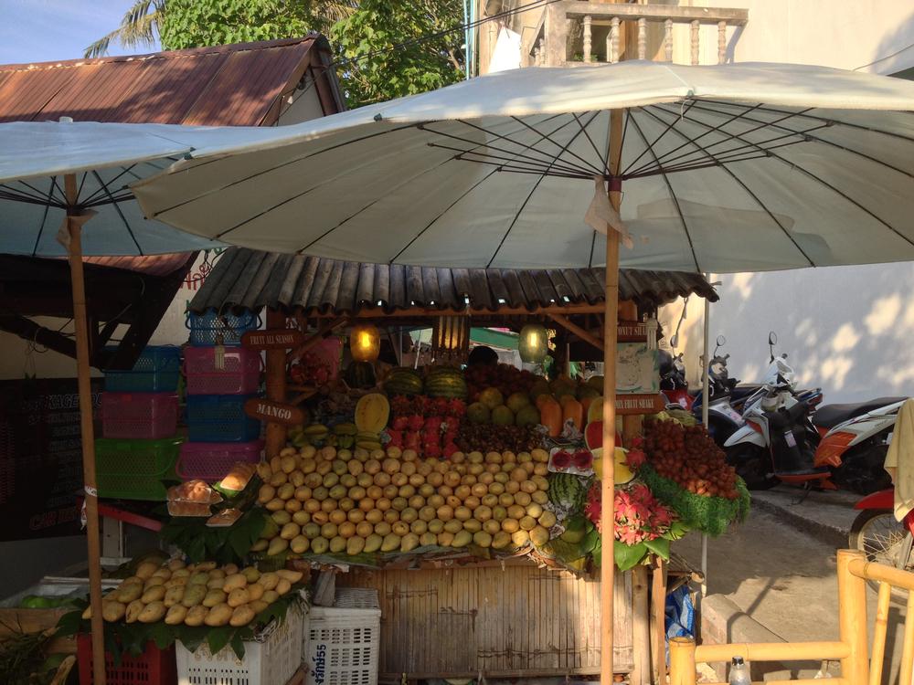 En frugtbod i Phuket