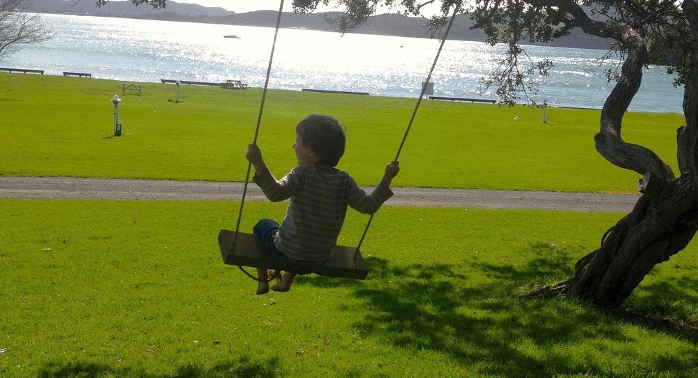 Nogle steder er der legeplads på campingpladsen - et MUST når man rejser med børn!