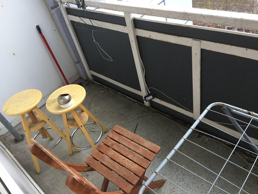 Balcony full of dove poop!