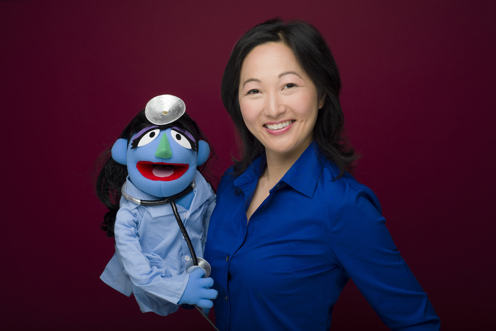 "Me with my Muppet doppelganger, Dr. ""J"""