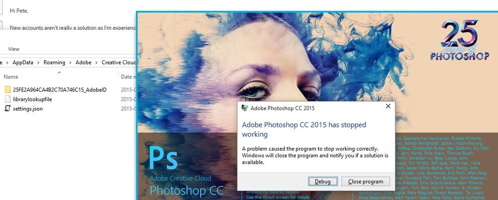 Photoshop CC 2015 Crash At Startup