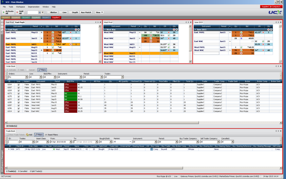 The ucx user interface