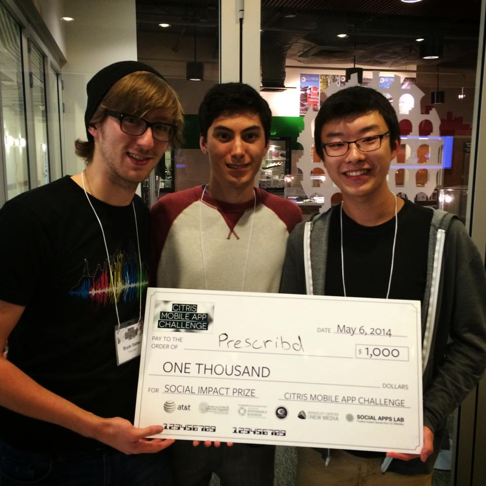 We won the Social Impact Prize award as part of the Citris Mobile App Challenge at UC Berkeley.